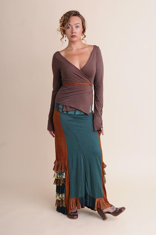 NuvoTerre Mosaic Wrap Jacket & Flamenco Ruffle Skirt