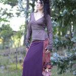 NuvoTerre Mosaic Wrap & Flamenco Ruffle Skirt